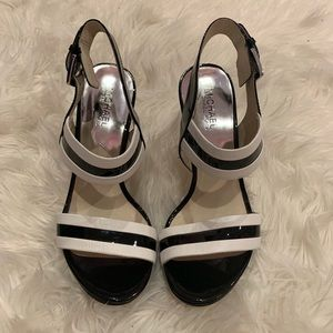 MICHAEL KROS Black and White Heels